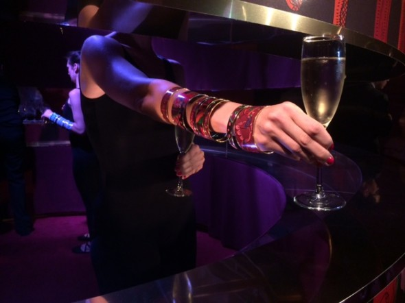 Bracelets and Champagne at Hermes, photo by Sean Rocha